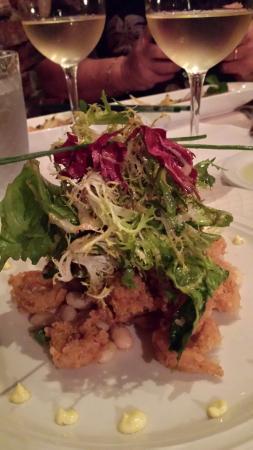 11 Maple Street: Warm escarole salad with crispi calamari.