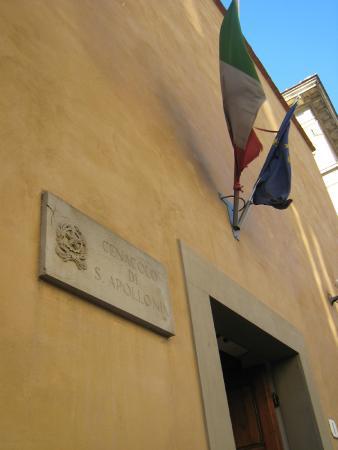 Cenacolo di Sant'Apollonia: 目立たない入り口