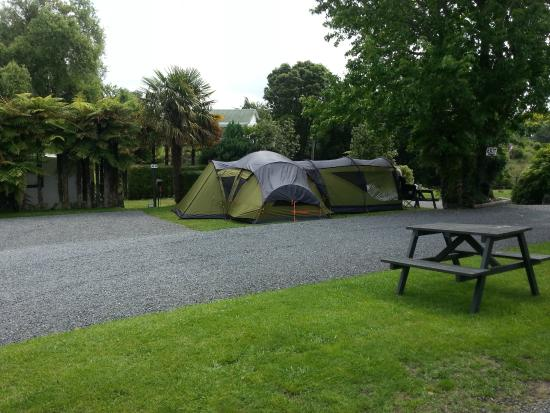 Waiteti Trout Stream Holiday Park: Tent site