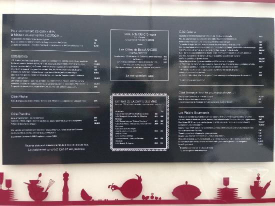 menu et carte picture of la maison des halles tours tripadvisor
