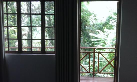 Haggards Hilldrop: View from inside of room
