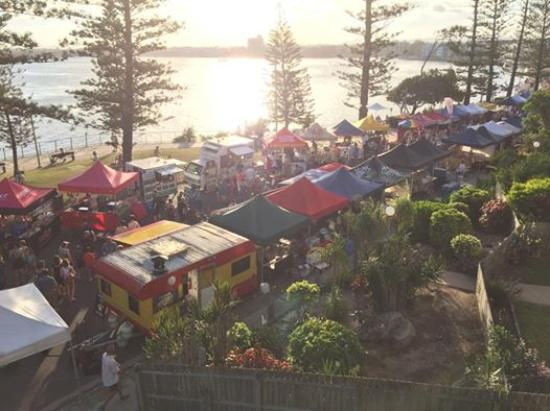 Cerulean Apartments: Friday night Twilight markets in January are literally within metres of your unit