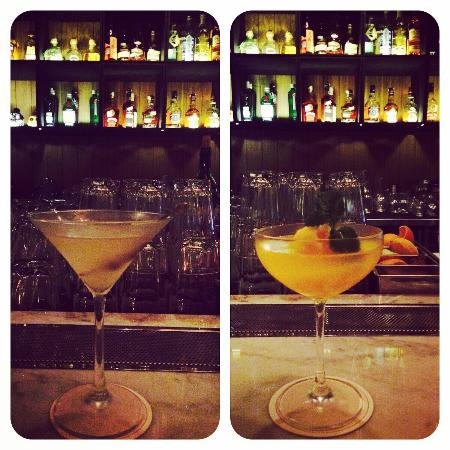 Cork & Screw Pacific Place: Lovely dirty martini and scrumptious orange sorbet Bellini.