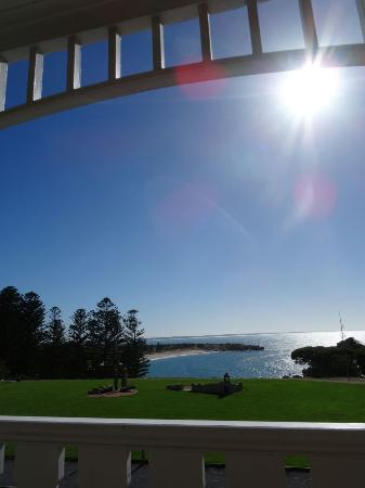 Port Elliot Beach House YHA: Meerblick morgens