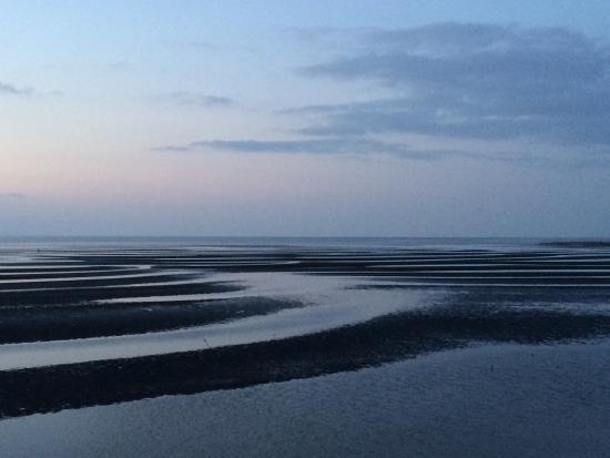 Okoshiki Beach: 近くから見る干潟