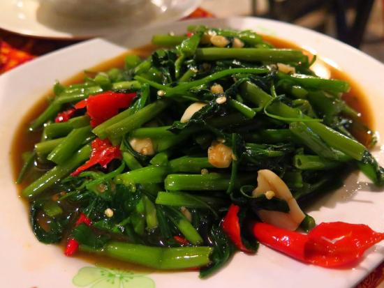 Kantiang Restaurant : Morning Glory - our favourite with chili and garlic