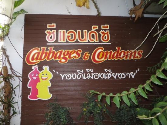Cabbages & Condoms: Sign