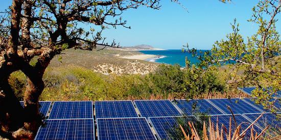 Villa del Faro: Solar view
