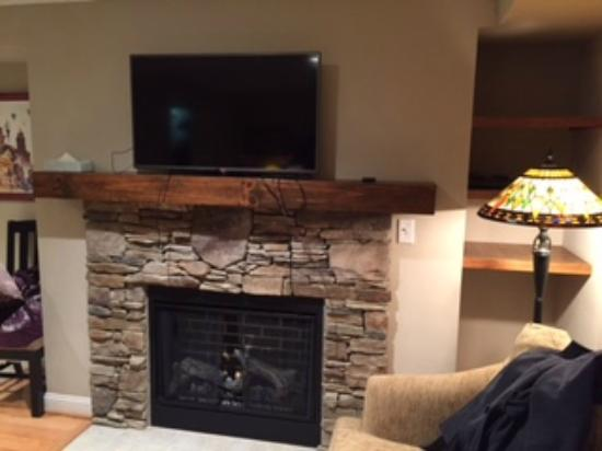 The Residences at Biltmore : Studio suite w/ electric fireplace