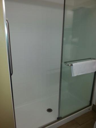 Holiday Inn Express & Suites Huntsville Airport: Walk in shower