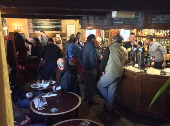 The Green Dragon: Great atmoshere, real ale and food.