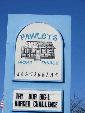 Pawleys Front Porch : Pawley's Front Porch sign by the road