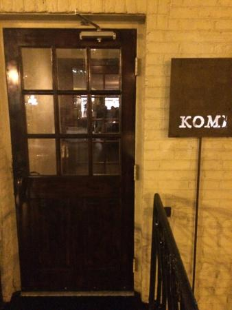 Entrance to Komi and gateway to a dining bonanza!