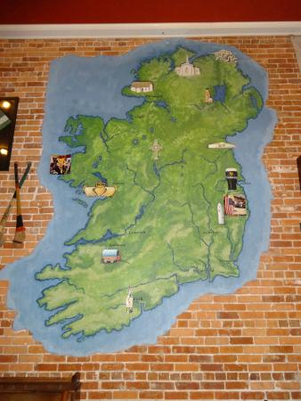 Ireland Map Picture Of The Harp And Celt Authentic Irish Pub And - Authentic world map
