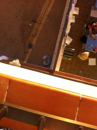 Lively Magaluf Hotel: clothes, rubbish on view from our balcony