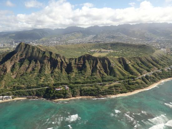 Blue Hawaiian Helicopters - Oahu: Diamond Head with Makapu'u Point Lighthouse below