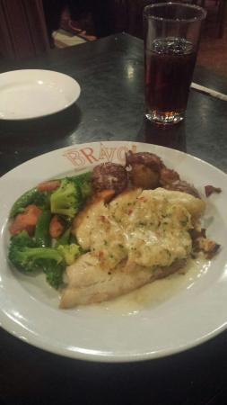 Bravo Kitchen Italiana: Tilapia dinner with veg