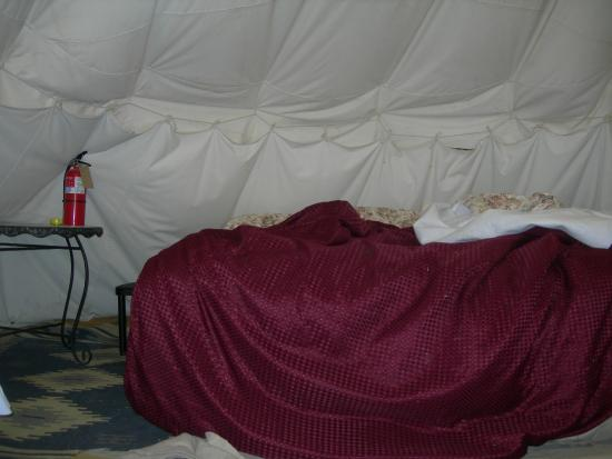 Cynthia's: bed inside the tipi