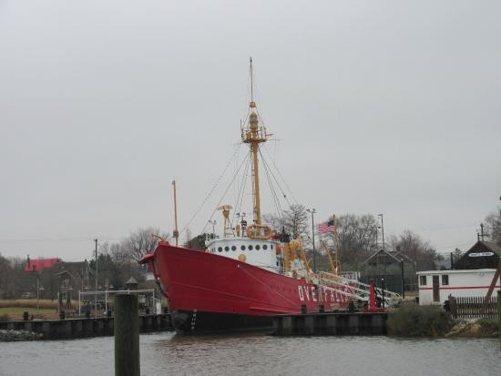 Lightship Overfalls: The Overfalls from the Lewes Beach side of the canal
