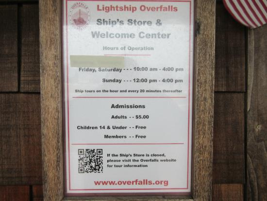 Lightship Overfalls: Fees of the ship tour
