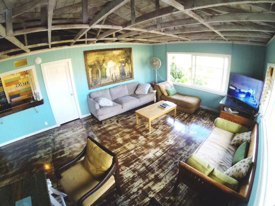Common area at Aloha Surf Hostel