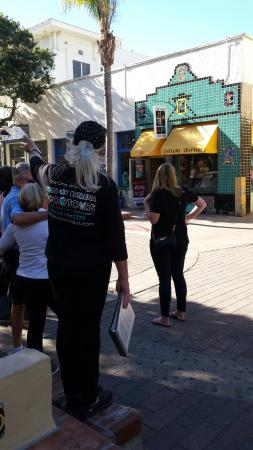 Taste of Catalina Food Tours : On the tour and learning about Catalina history including the famous Catalina Tiles.