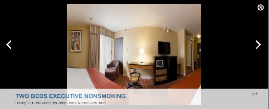 Holiday Inn Dublin: 360 View of the room I booked on IHG-- notice a Fridge/Microwave-- IT IS NOT IN THE ROOM