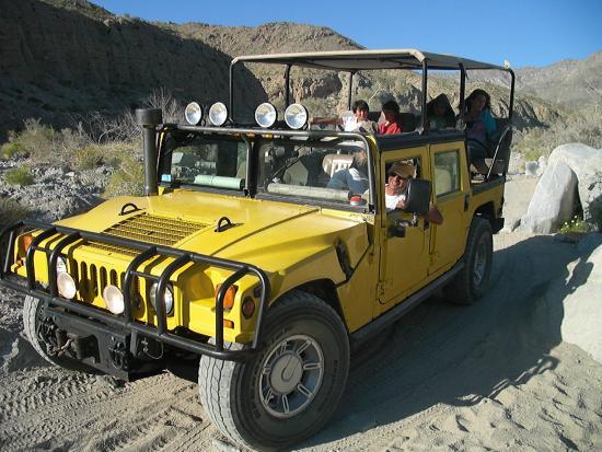 California Desert, CA: See the desert on a desert Hummer tour.
