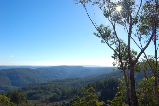 Noojee, Australia: Distant views at the top