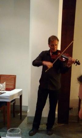 The Courtyard: Master violinist david Wacheux performing