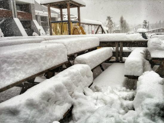 Hotel Rive: But when it snowed - boy did it snow