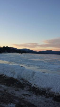 Wilton, ME: Driving on ice after fishing