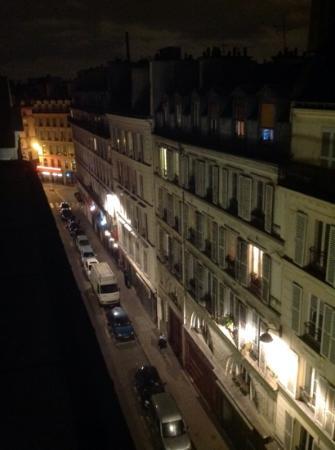 9HOTEL OPERA: Paris postcard view from balcony, room 62.
