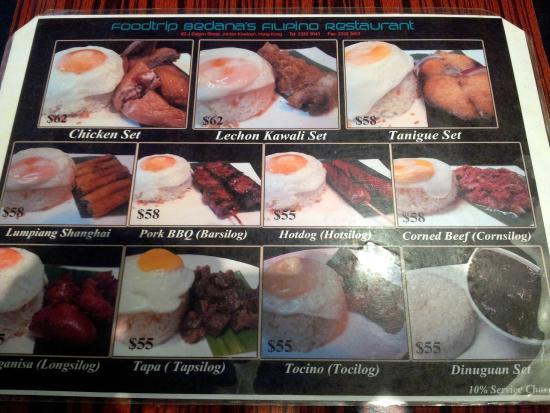 Foodtrip Bedanas Filipino Restaurant Pinoy Cuisine