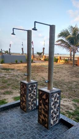 Batu Burok Beach Resort: Shower near beach area