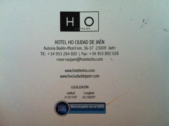 Hotel HO Ciudad de Jaen: Dirección
