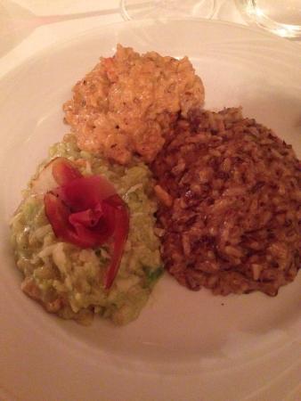Hostaria da Beppe: Tris di risotti a scelta