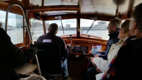 Watertaxi Rotterdam: Inside water taxi.