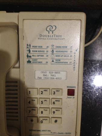 Americas Best Value Inn Downtown: the non working phone that came from another hotel.