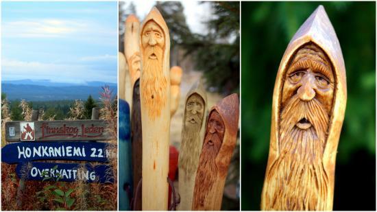 Asnes Municipality, Norway: Handmade hiking staffs and local hiking trails