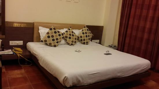 Chandralok Hotel: Good quality of bed but UGLY pillows !