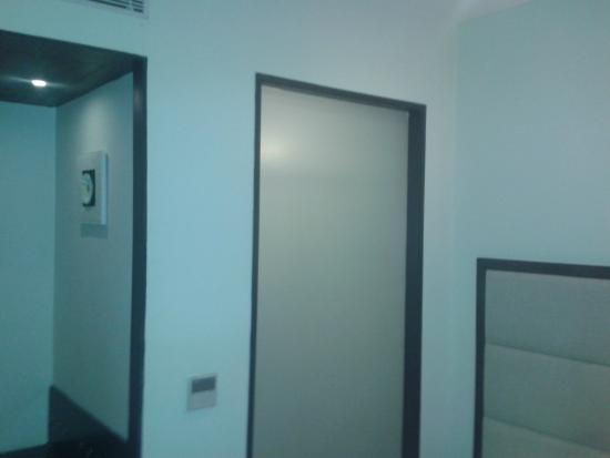 Clarks Inn, Gurgaon, Delhi-NCR: This translucent glass between suit and the shower