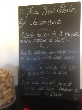 Le Garganico : # menu St Valentin #