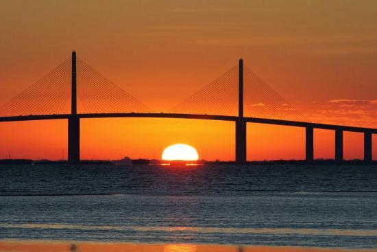 Tierra Verde, FL: Sunrise from Ft Deep Soto park.
