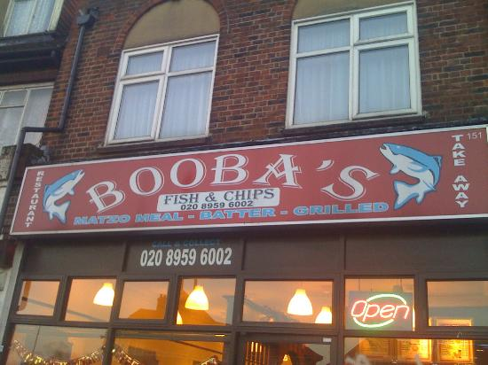 Edgware, UK: Boobas fish and chips