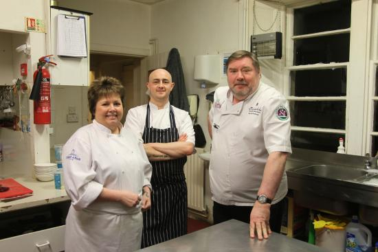 Blackaddie Country House Hotel: Two professionals and a 'Chef for a day'