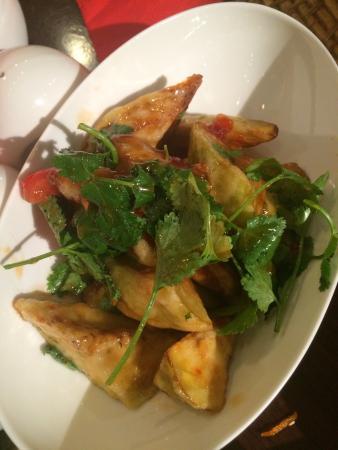 Салат из карамелизированных баклажан
