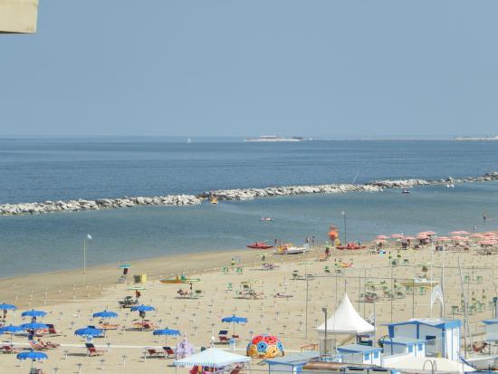 Hotel Cadiz: la spiaggia di Viserbella vista h. cadiz