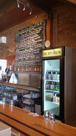 Short's Brewing Company: Draft List for the day