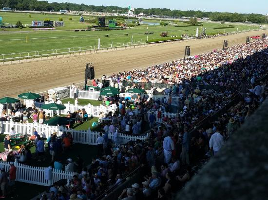 Crowded Paddock On Belmont Stakes Afternoon Picture Of